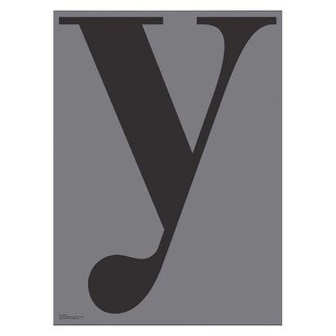 Playtype Grey poster - Y  (70x100)