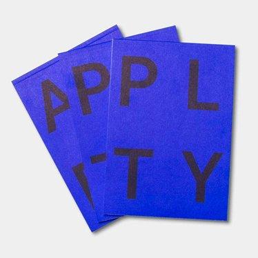 Playtype PLTY Notepad acid blue