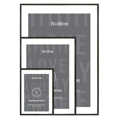 I Love My Type wissellijst aluminium-zwart (div maten)