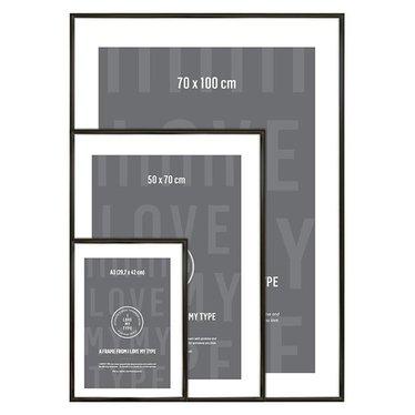 I Love My Type Frame black aluminum