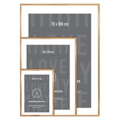 I Love My Type photo frame aluminum-copper 70x100 cm