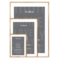 I Love My Type wissellijst aluminium-koper (div maten)