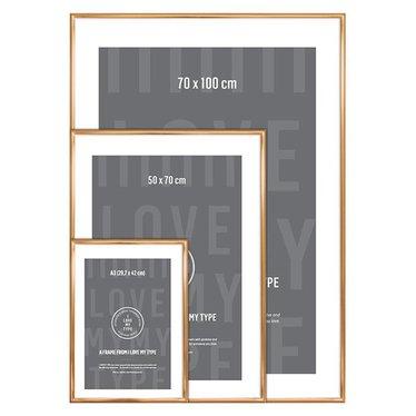 I Love My Type Wissellijst voor poster, koper 70x100 cm