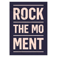 I Love My Type poster Rock the Moment donkerblauw A3