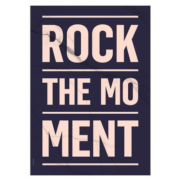 I Love My Type Poster Rock the Moment, dark blue (A3)
