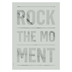 I Love My Type poster Rock the Moment zacht groen A3