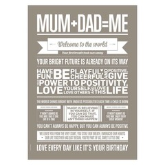 I Love My Type Poster Mum+Dad=Me (50x70)