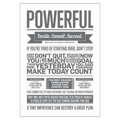I Love My Type Poster Powerful, grijs (50x70)