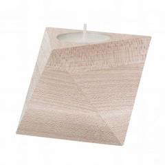 Ferm Living tealight holder Cube maple