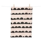 Ferm Living tea towel Half Moon rose