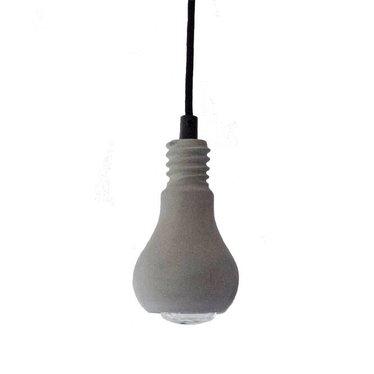 Tove Adman Edison concrete pendant with textile cord