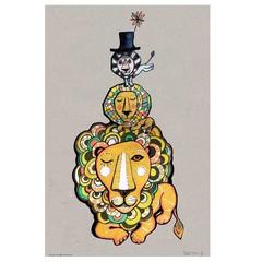 Sofie Børsting poster Lion A4