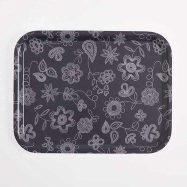 Giarimi Design Feast recht dienblad Pearl Embroidery aubergine
