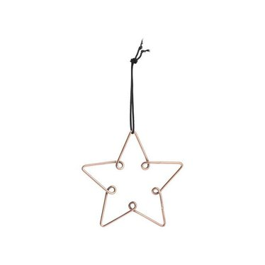Louise Roe Star ornament copper maat M