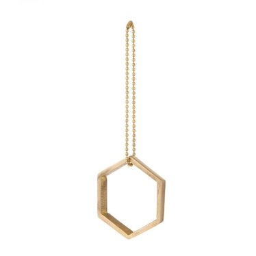 Ferm Living Brass ornament Hexagon