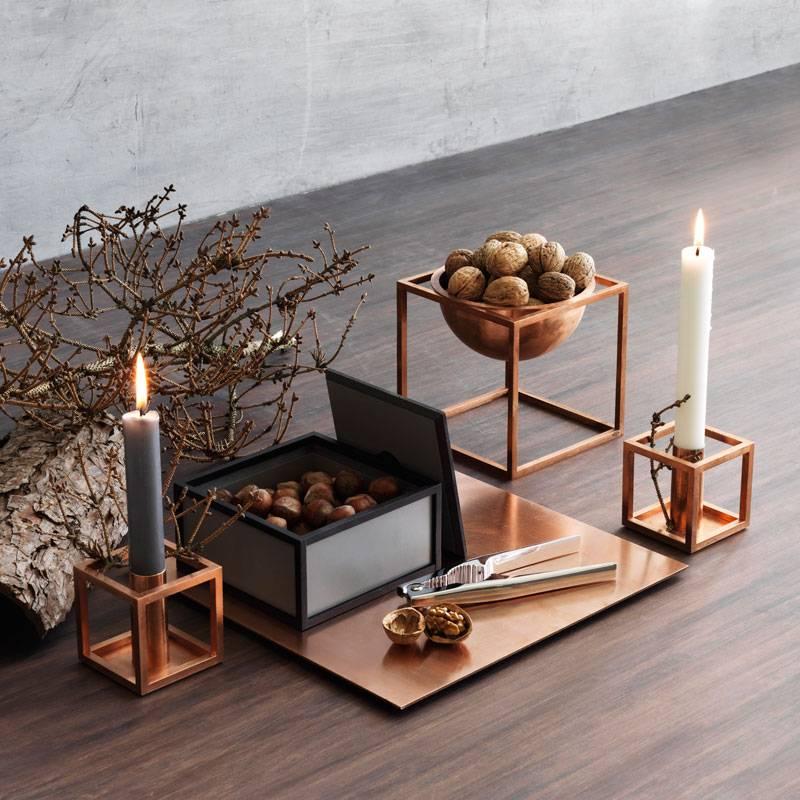 by lassen kandelaar kubus 1 koper nordic blends nordic blends. Black Bedroom Furniture Sets. Home Design Ideas