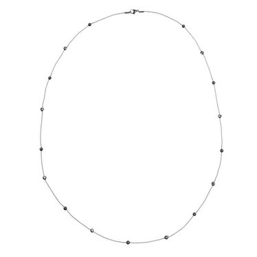 Edblad lange halsketting Dew rvs