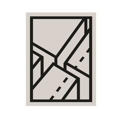 Edblad Poster Javea 3 klei-zwart 30 x 40 cm