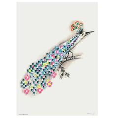 Sofie Børsting poster Peacock A4