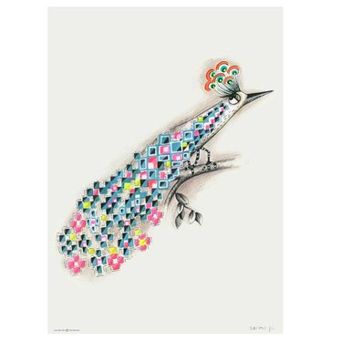 Sofie Børsting Poster Peacock - A4