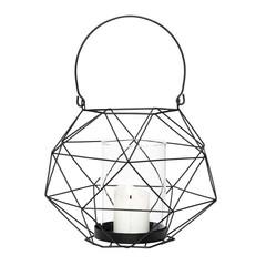Hubsch black metal wire lantern
