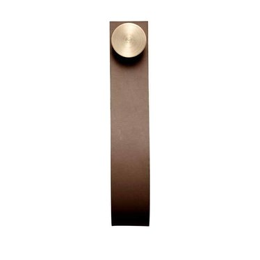 By Lassen Stropp leather wall hook brown-brass