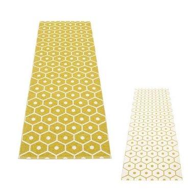 Pappelina Narrow plastic rug Honey