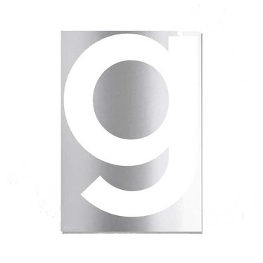 Playtype GREY poster Mirror g limited edition (50x70)