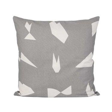 Ferm Living Cut cushion grey 50x50