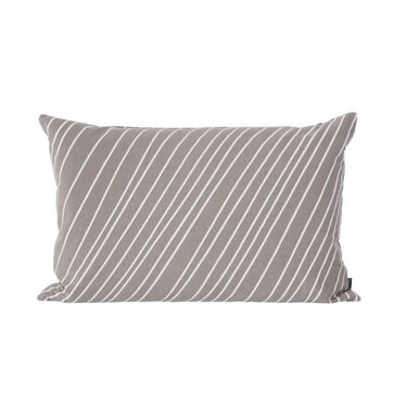 Ferm Living Striped kussen warm grey 40x60
