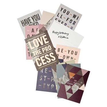 I Love My Type Set van 10 kaarten Spring
