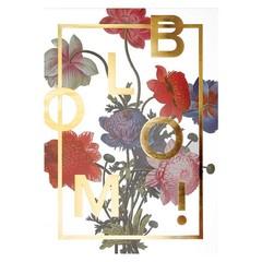 I Love My Type poster Bloom! grijs A4 - Copy