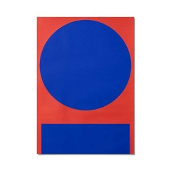 Playtype poster Macrography i - rood-blauw