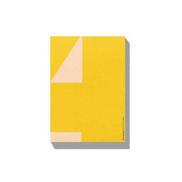 Playtype Macrography 4 Postcard block geel