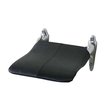 Edblad Cover for aluminum wall chair - black leather