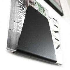 Nur tijdschriftenhouder Curve zwart