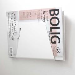 Nur magazine holder Curve white