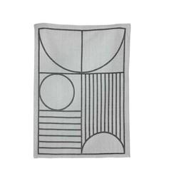 Ferm Living Outlines dishcloth gray-black