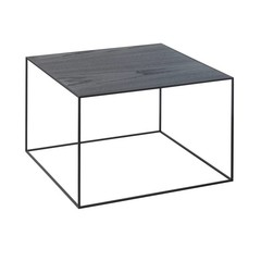 By Lassen bijzettafel Twin 49 table cool gray-black stained ash