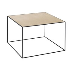 By Lassen bijzettafel Twin 49 table wit-eiken