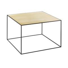 By Lassen bijzettafel Twin 49 table messing-misty green