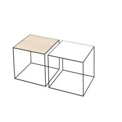 By Lassen bijzettafel Twin 35 table wit-eiken