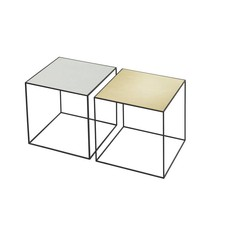 By Lassen bijzettafel Twin 35 table messing-misty green