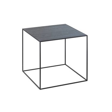 By Lassen Twin 35 black table - cool gray-black stained ash