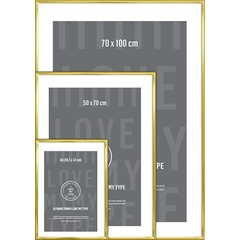 I Love My Type changing frame aluminum-brass 70x100 cm