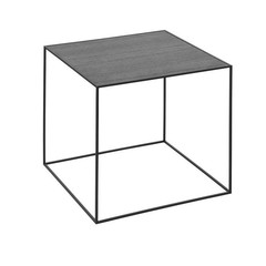 By Lassen side table Twin 42 table black stained ash-grey