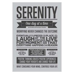 I Love My Type poster Serenity grey