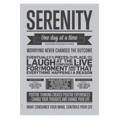 I Love My Type Serenity grey poster