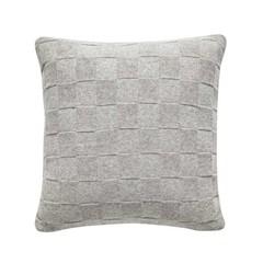 Hubsch wool pillow block pattern light gray