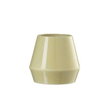 By Lassen vase Rimm - low - dusty yellow